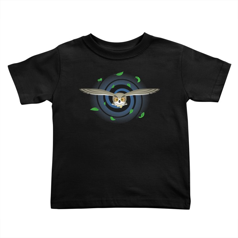 Wind Owl Kids Toddler T-Shirt by Designs by WoollyRex