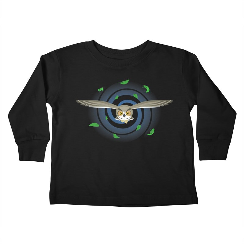 Wind Owl Kids Toddler Longsleeve T-Shirt by Designs by WoollyRex