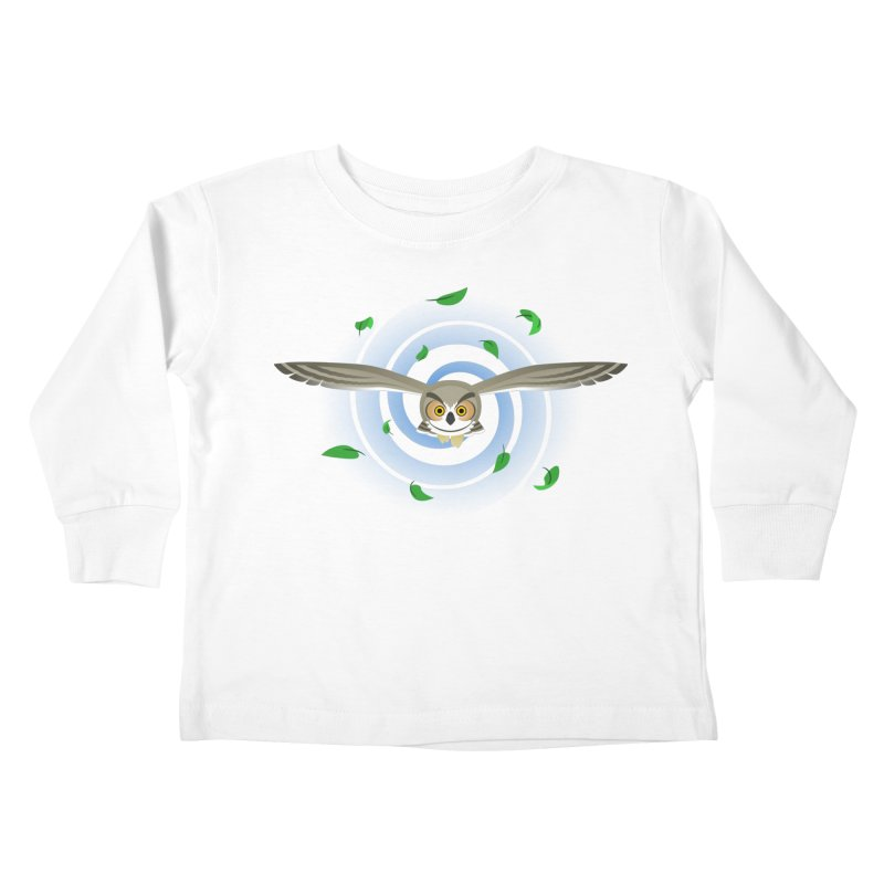 Wind Owl Kids Toddler Longsleeve T-Shirt by Designs by WoollyRex