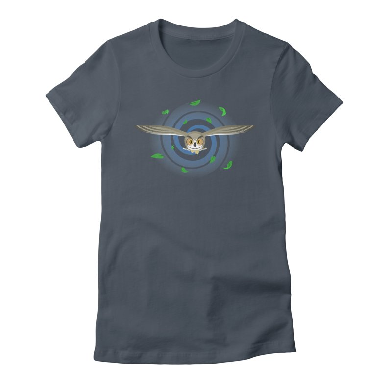 Wind Owl Women's Fitted T-Shirt by Designs by WoollyRex