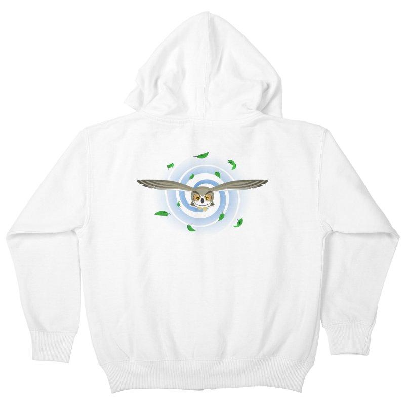 Wind Owl Kids Zip-Up Hoody by Designs by WoollyRex