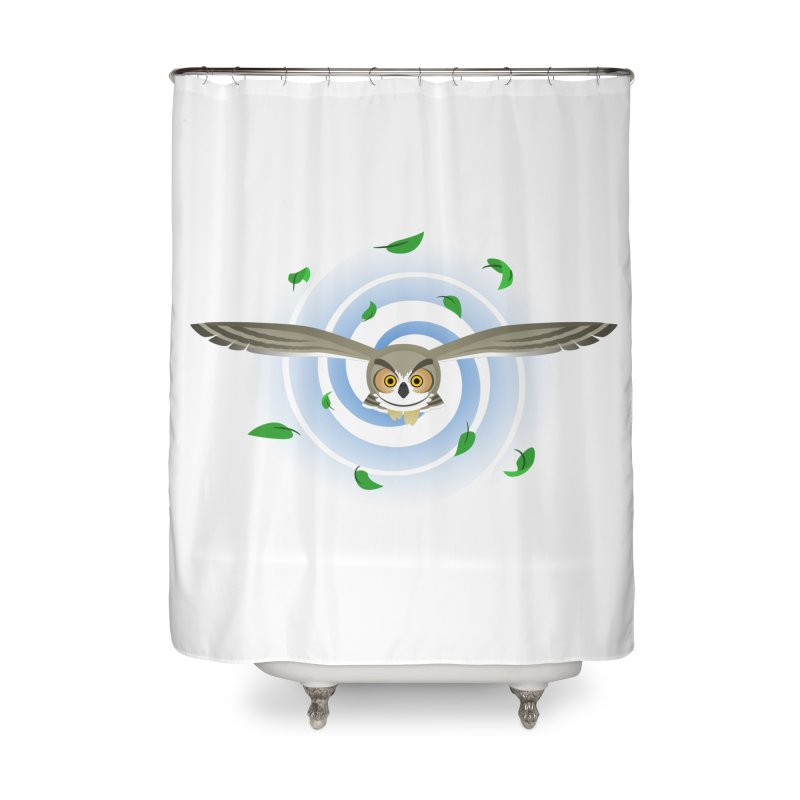 Wind Owl Home Shower Curtain by Designs by WoollyRex