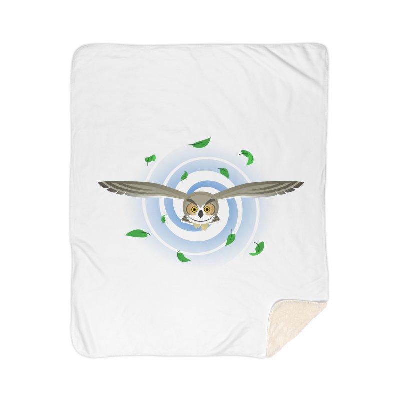 Wind Owl Home Sherpa Blanket Blanket by Designs by WoollyRex