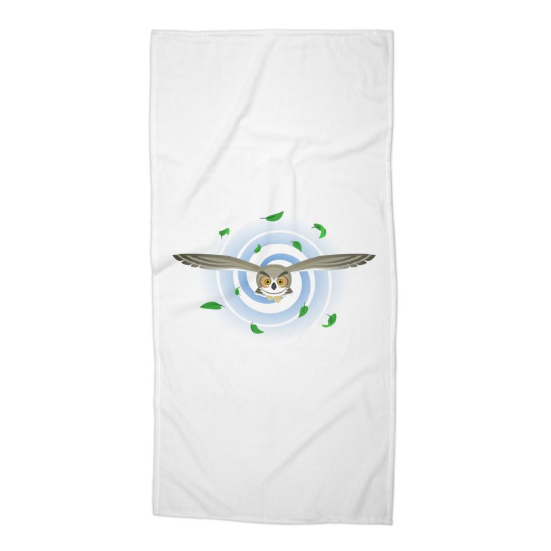 Wind Owl Accessories Beach Towel by Designs by WoollyRex
