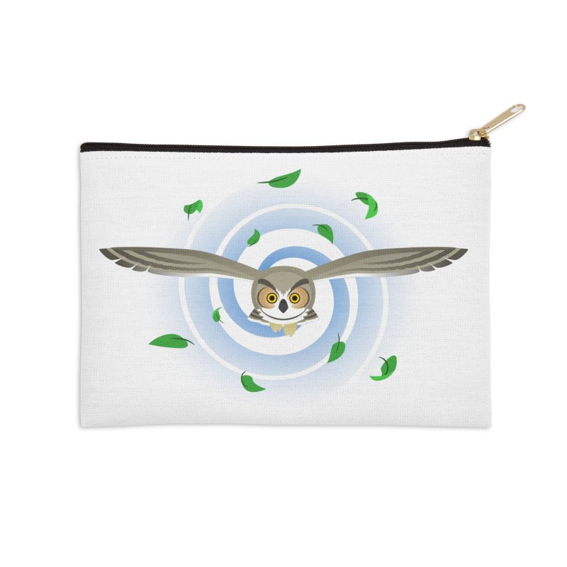 Wind Owl Accessories Zip Pouch by Designs by WoollyRex