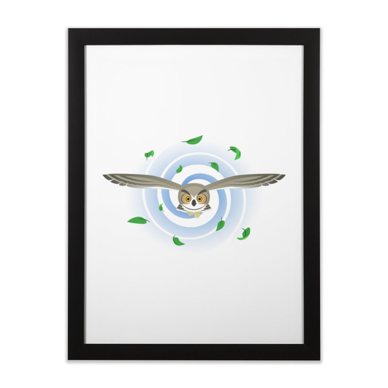 Wind Owl Home Framed Fine Art Print by Designs by WoollyRex