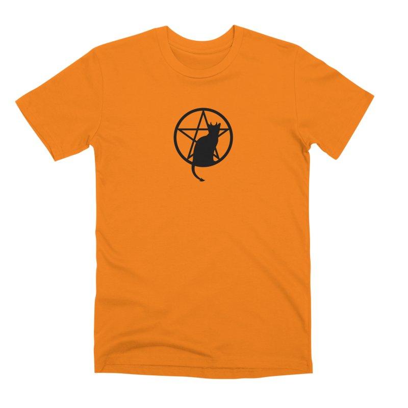 Satan Cat Men's T-Shirt by Designs by WoollyRex