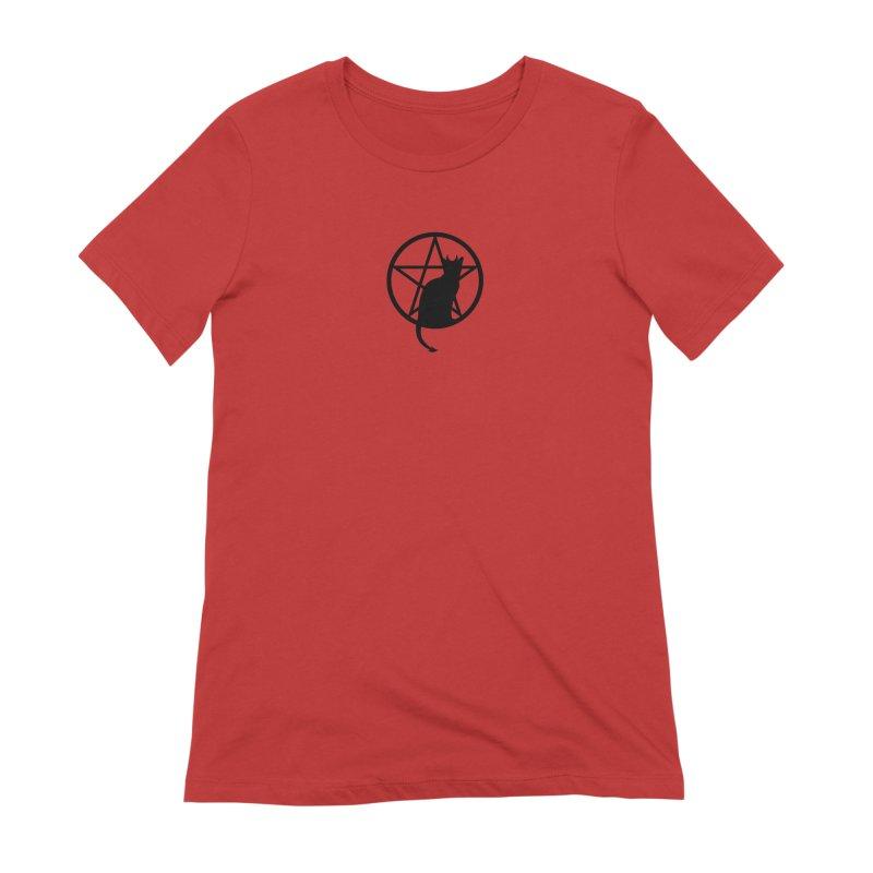 Satan Cat Women's Extra Soft T-Shirt by Designs by WoollyRex