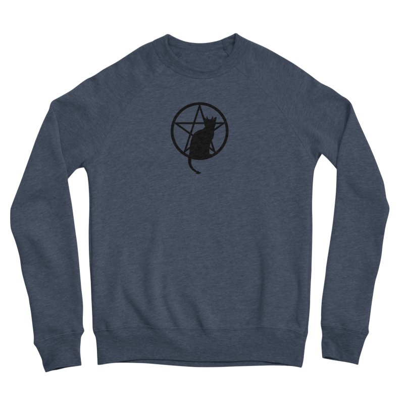 Satan Cat Men's Sponge Fleece Sweatshirt by Designs by WoollyRex