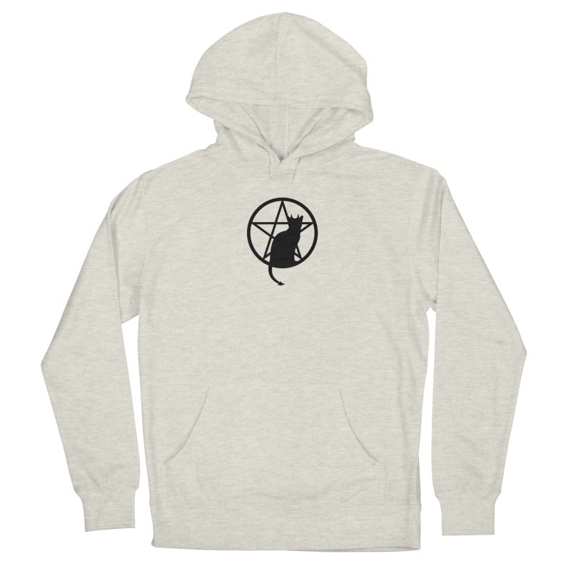 Satan Cat Men's French Terry Pullover Hoody by Designs by WoollyRex