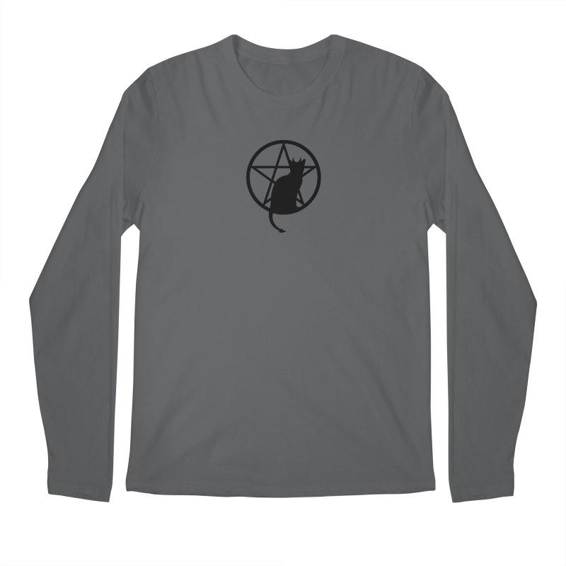 Satan Cat Men's Regular Longsleeve T-Shirt by Designs by WoollyRex