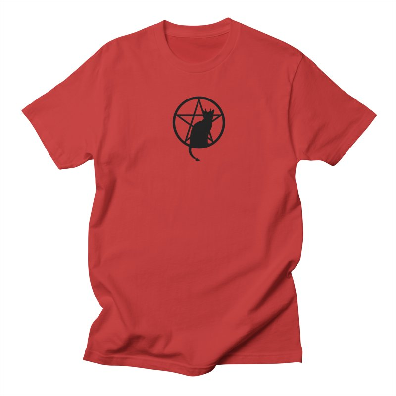 Satan Cat Men's Regular T-Shirt by Designs by WoollyRex