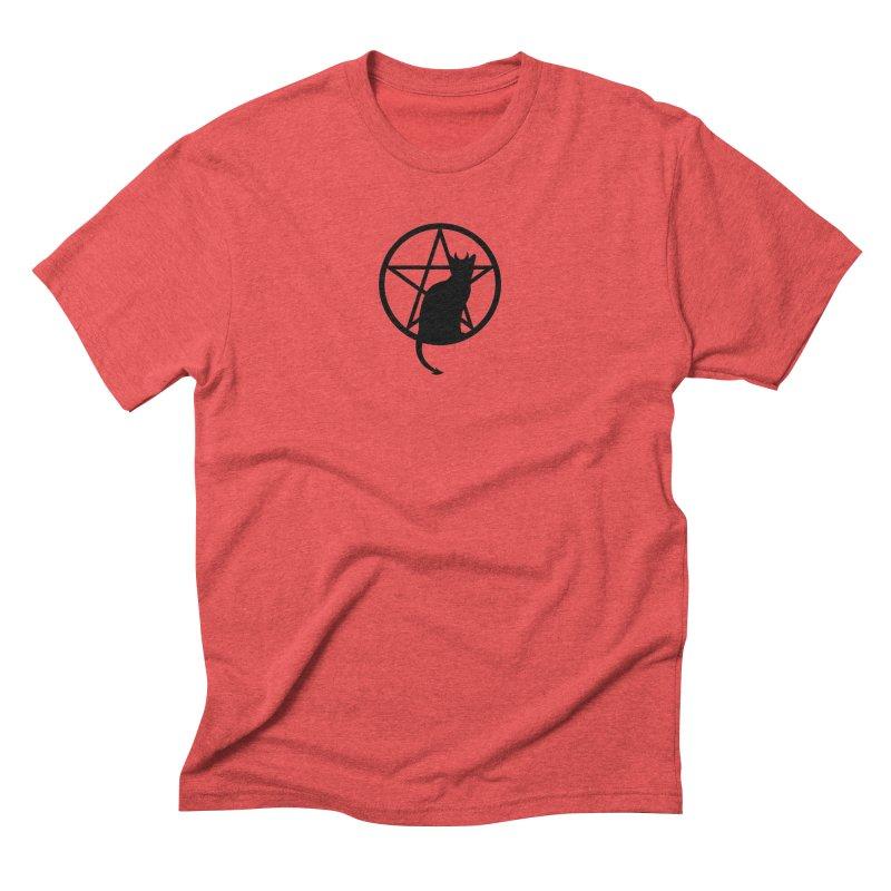 Satan Cat Men's Triblend T-Shirt by Designs by WoollyRex