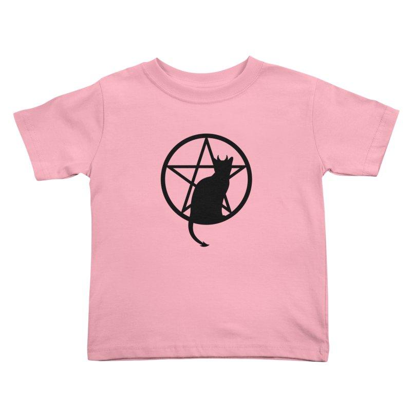 Satan Cat Kids Toddler T-Shirt by Designs by WoollyRex