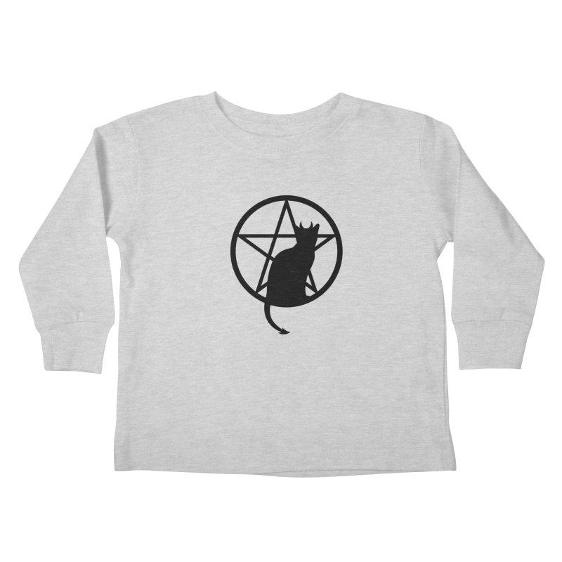 Satan Cat Kids Toddler Longsleeve T-Shirt by Designs by WoollyRex