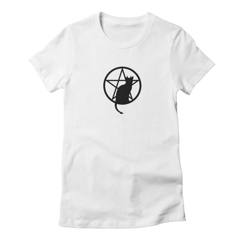 Satan Cat Women's Fitted T-Shirt by Designs by WoollyRex