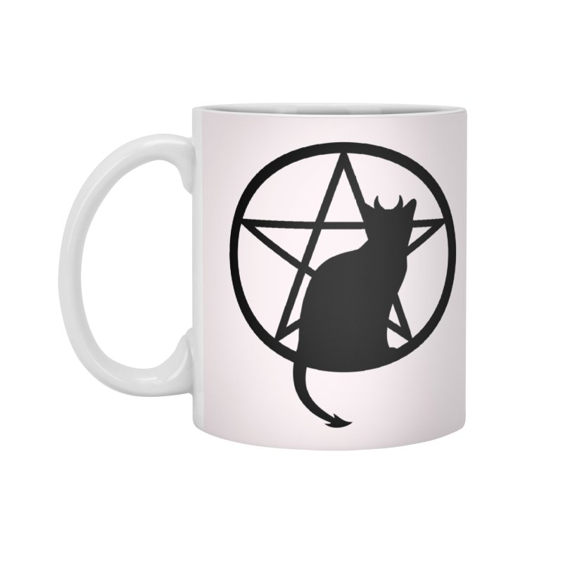Satan Cat Accessories Standard Mug by Designs by WoollyRex