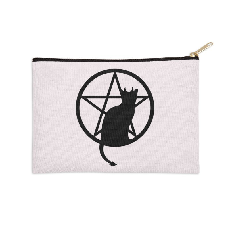Satan Cat Accessories Zip Pouch by Designs by WoollyRex