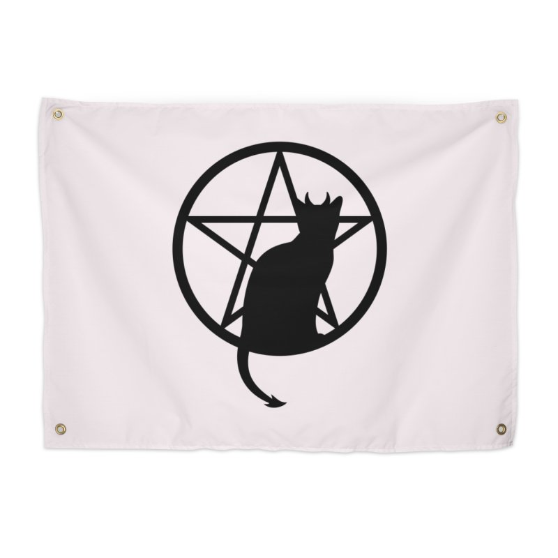 Satan Cat Home Tapestry by Designs by WoollyRex