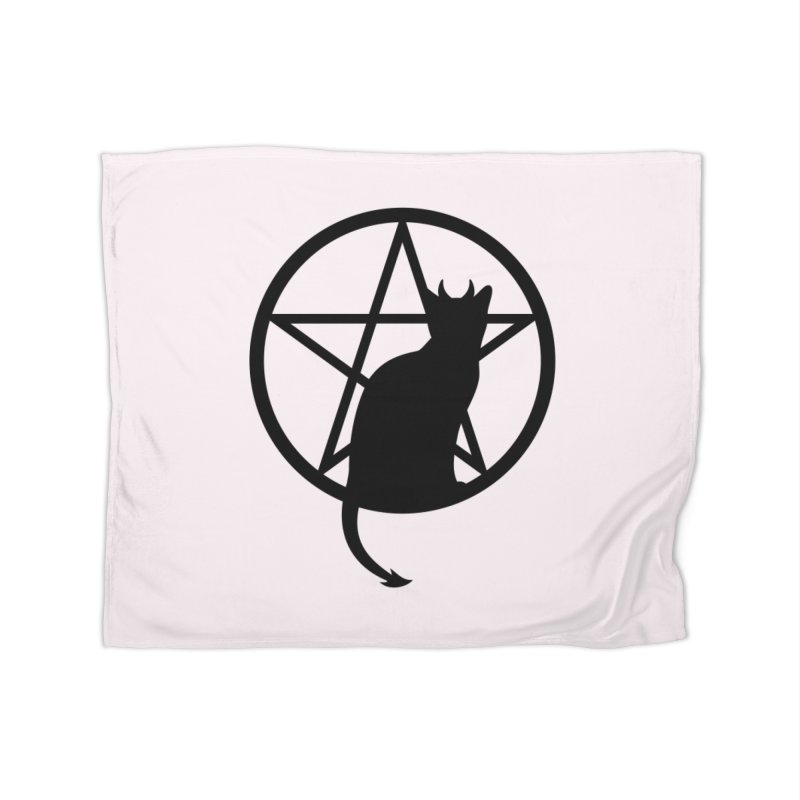 Satan Cat Home Fleece Blanket Blanket by Designs by WoollyRex