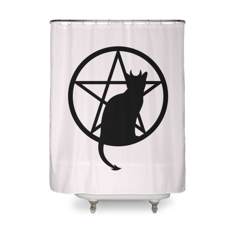 Satan Cat Home Shower Curtain by Designs by WoollyRex