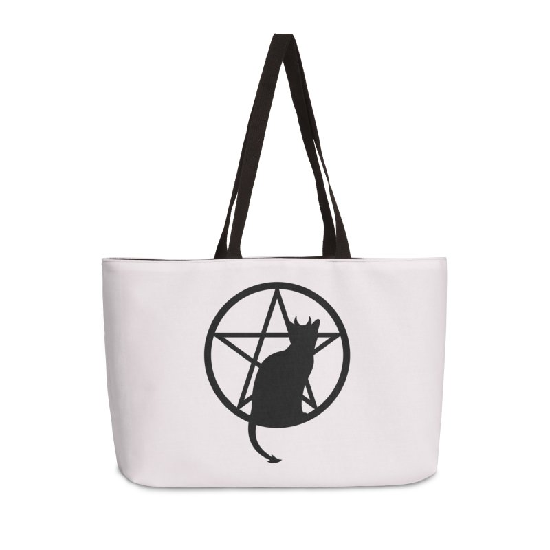 Satan Cat Accessories Weekender Bag Bag by Designs by WoollyRex