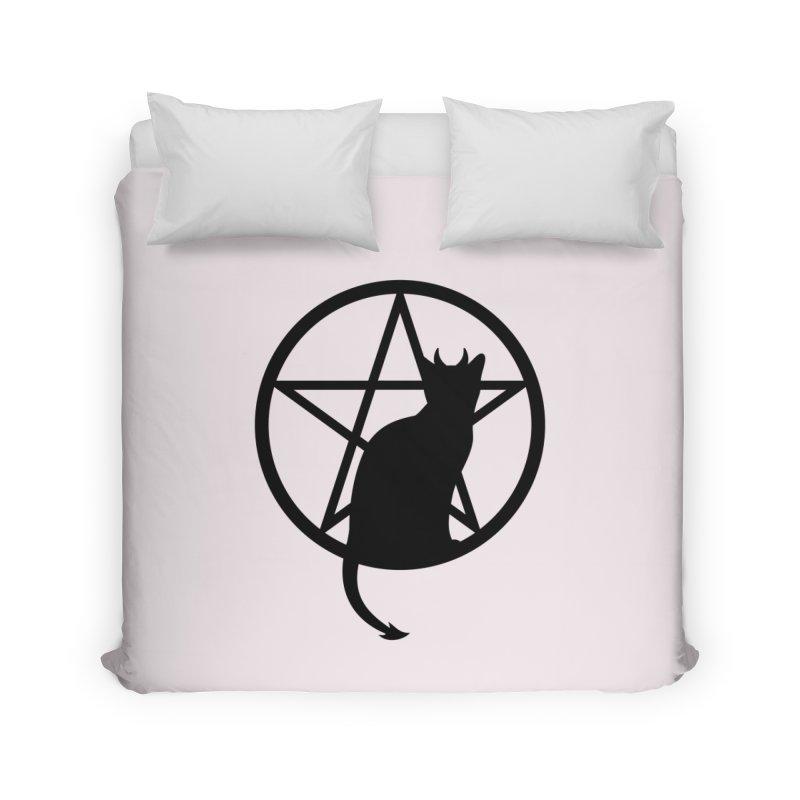 Satan Cat Home Duvet by Designs by WoollyRex