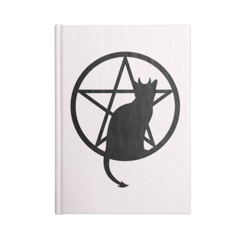 Satan Cat Accessories Lined Journal Notebook by Designs by WoollyRex