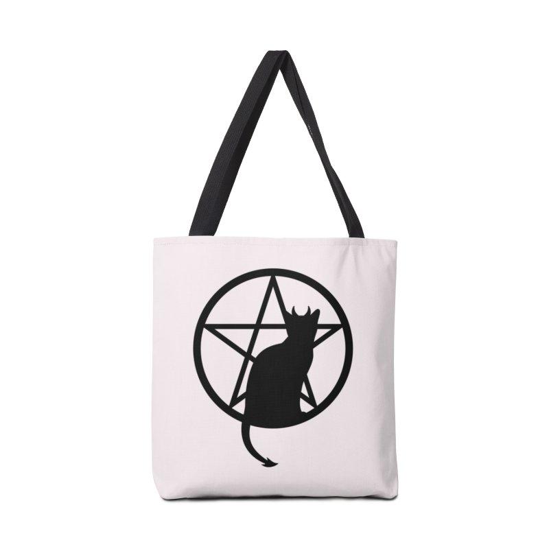 Satan Cat Accessories Tote Bag Bag by Designs by WoollyRex