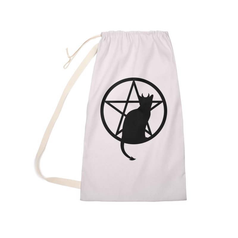 Satan Cat Accessories Laundry Bag Bag by Designs by WoollyRex