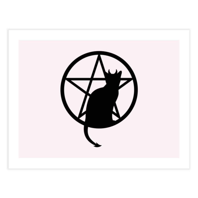 Satan Cat Home Fine Art Print by Designs by WoollyRex