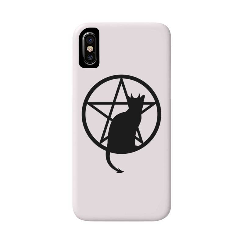 Satan Cat Accessories Phone Case by Designs by WoollyRex