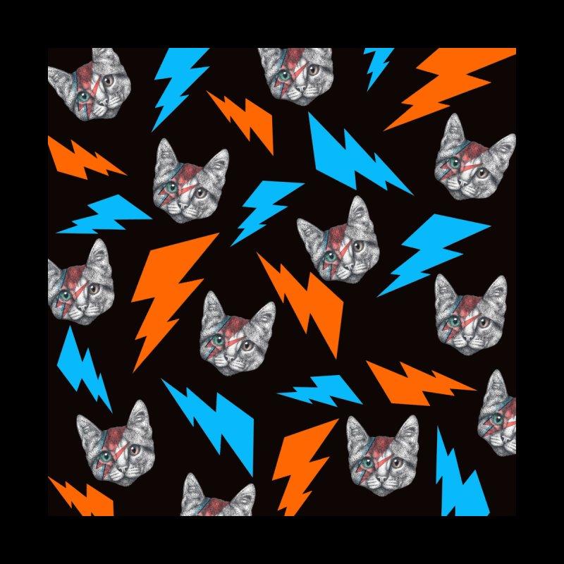 David Bowie Cat Accessories Face Mask by WukashDesigns Artist Shop