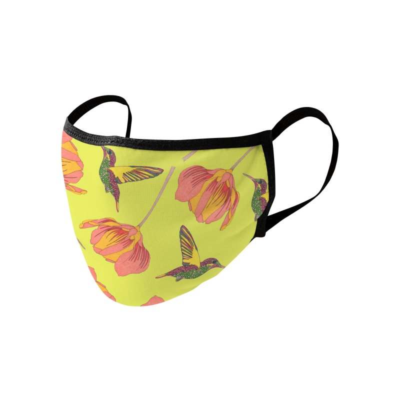 Humming Birds and Flowers Accessories Face Mask by WukashDesigns Artist Shop