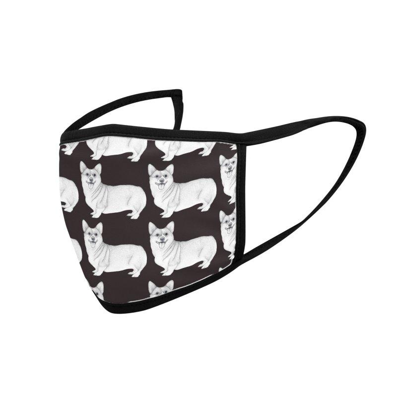 Corgi Dogs Accessories Face Mask by WukashDesigns Artist Shop