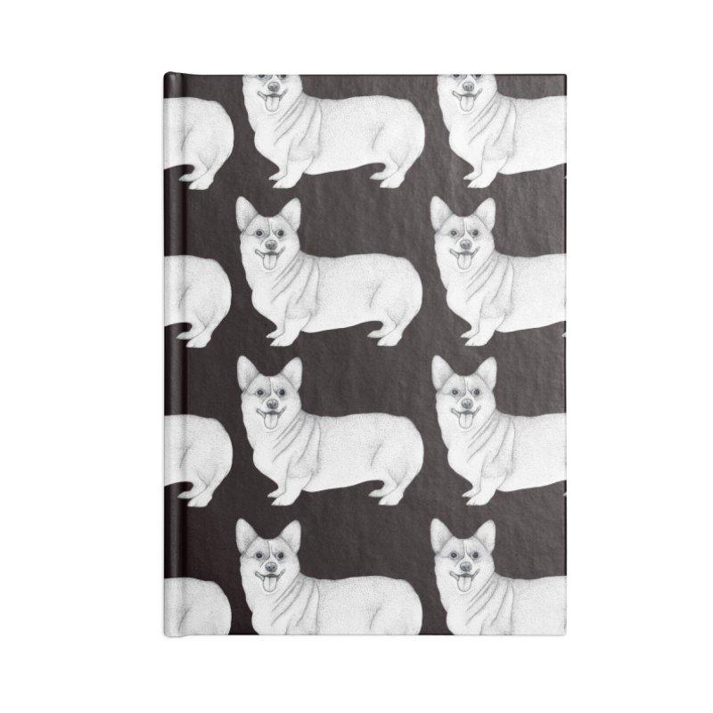 Corgi Dogs Accessories Notebook by WukashDesigns Artist Shop