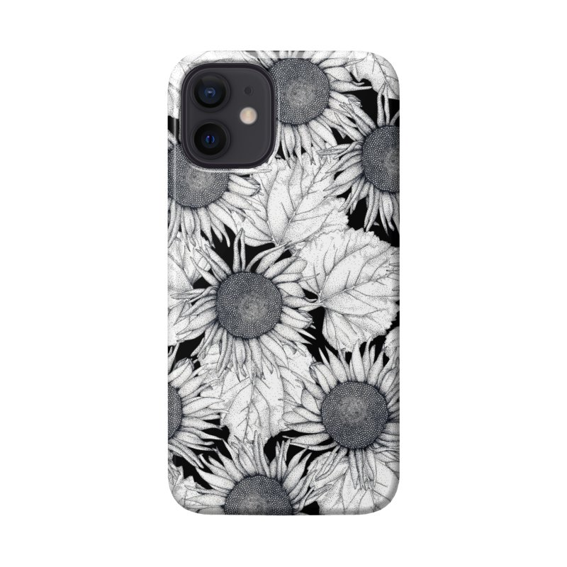 Black and White Sunflowers Accessories Phone Case by WukashDesigns Artist Shop