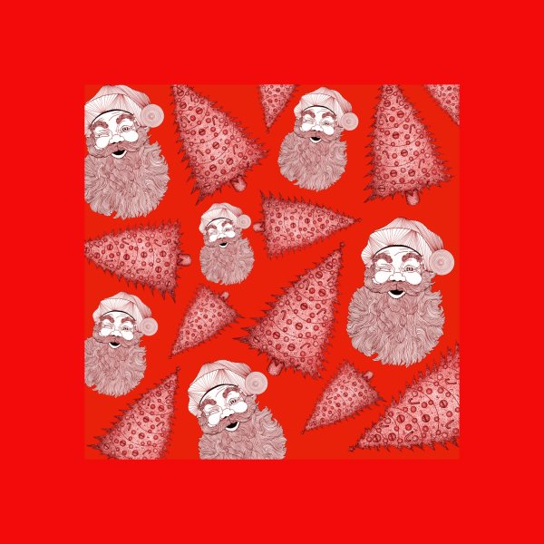 Design for Santa Claus Christmas Trees
