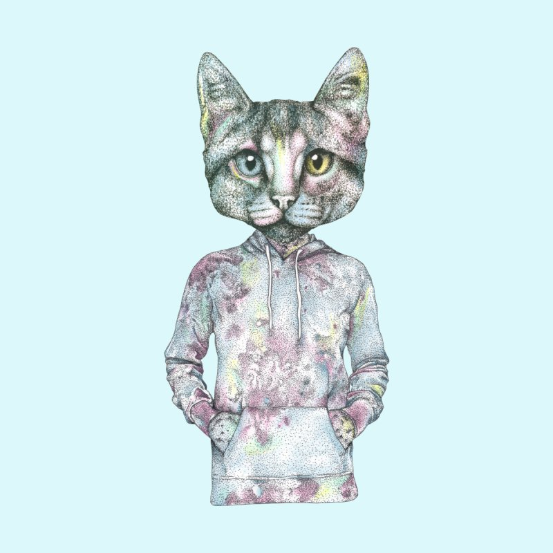 Cool Cat Home Stretched Canvas by WukashDesigns Artist Shop