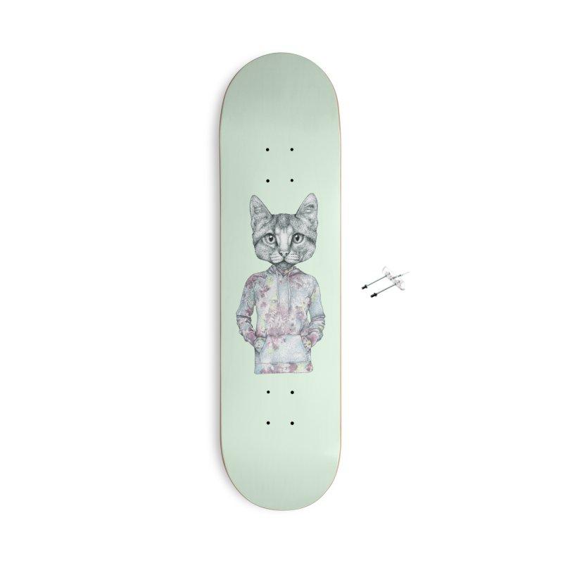 Cat Accessories Skateboard by WukashDesigns Artist Shop