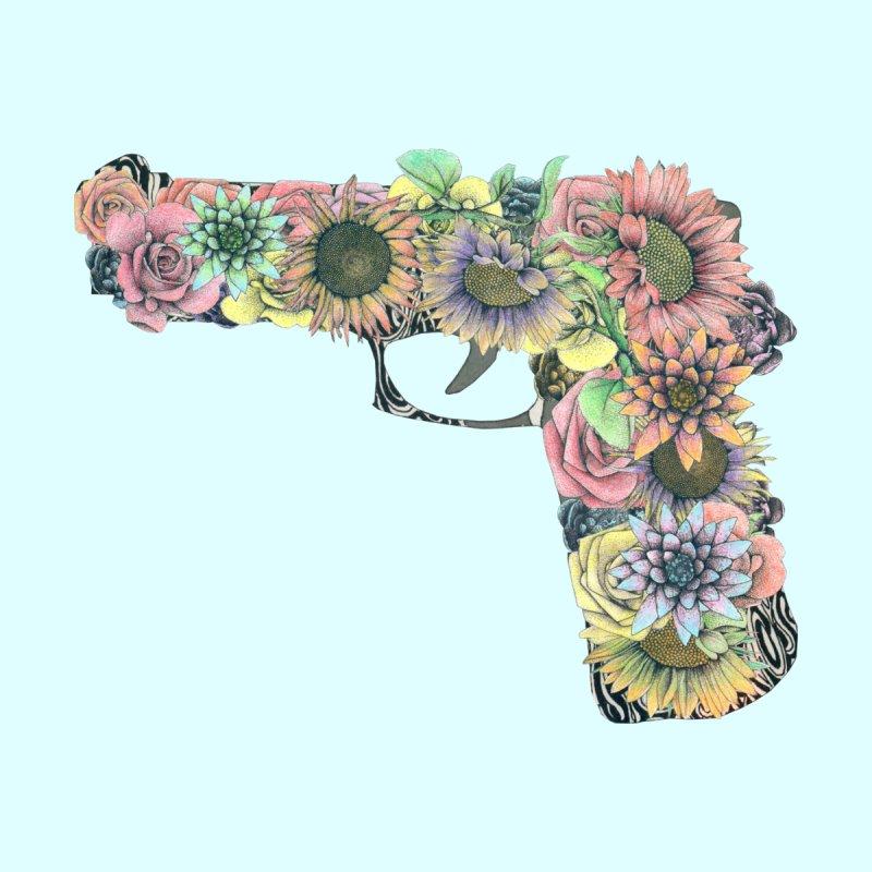 Flower Gun Home Fine Art Print by WukashDesigns Artist Shop