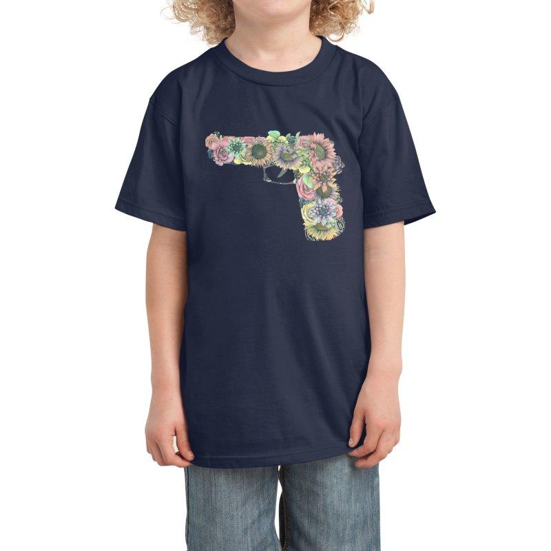 Flower Gun Kids T-Shirt by WukashDesigns Artist Shop