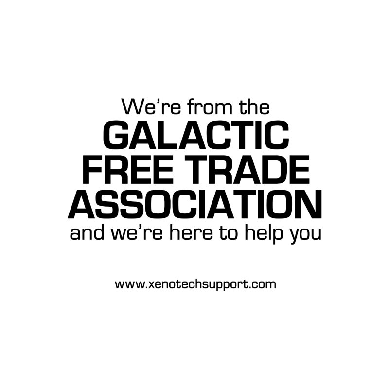 We're from the Galactic Free Trade Association Women's Tank by Xenotech's Artist Shop
