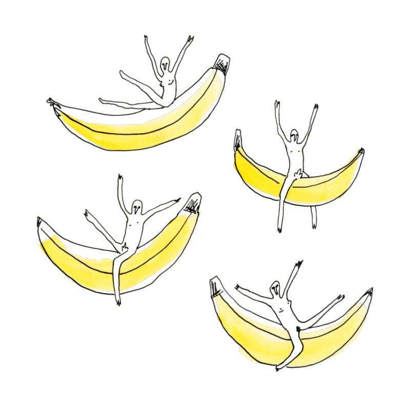 Friends Riding Bananas Women's T-Shirt by studio YES YES YES
