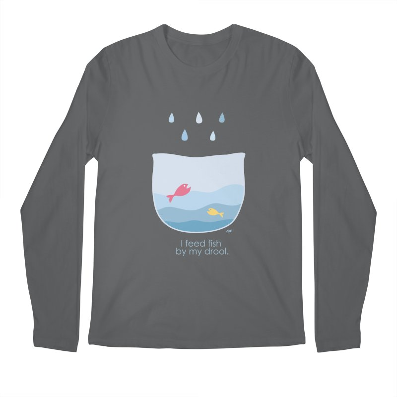 I feed fish by my drool Men's Longsleeve T-Shirt by YLTsai's Artist Shop