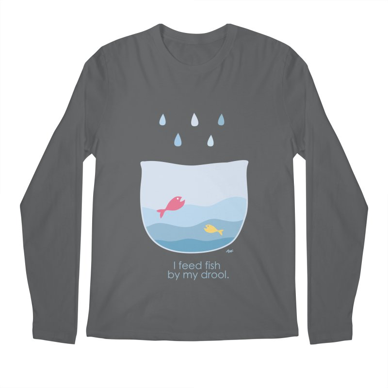I feed fish by my drool Men's Longsleeve T-Shirt by YLTsai's Artist Shop