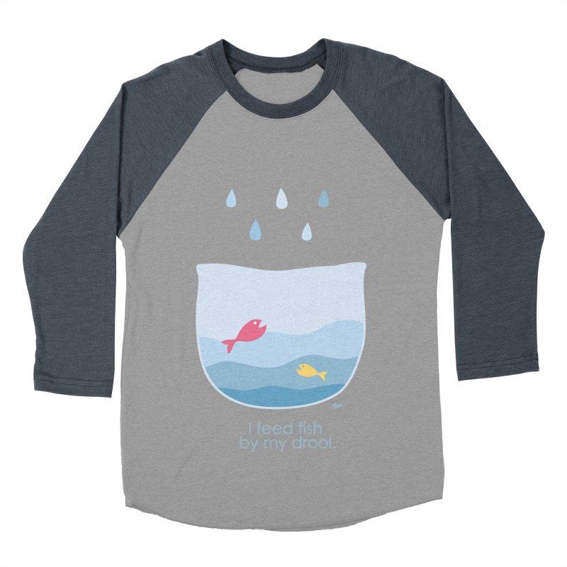 I feed fish by my drool Men's Baseball Triblend Longsleeve T-Shirt by YLTsai's Artist Shop