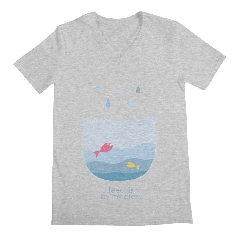 I feed fish by my drool Men's V-Neck by YLTsai's Artist Shop
