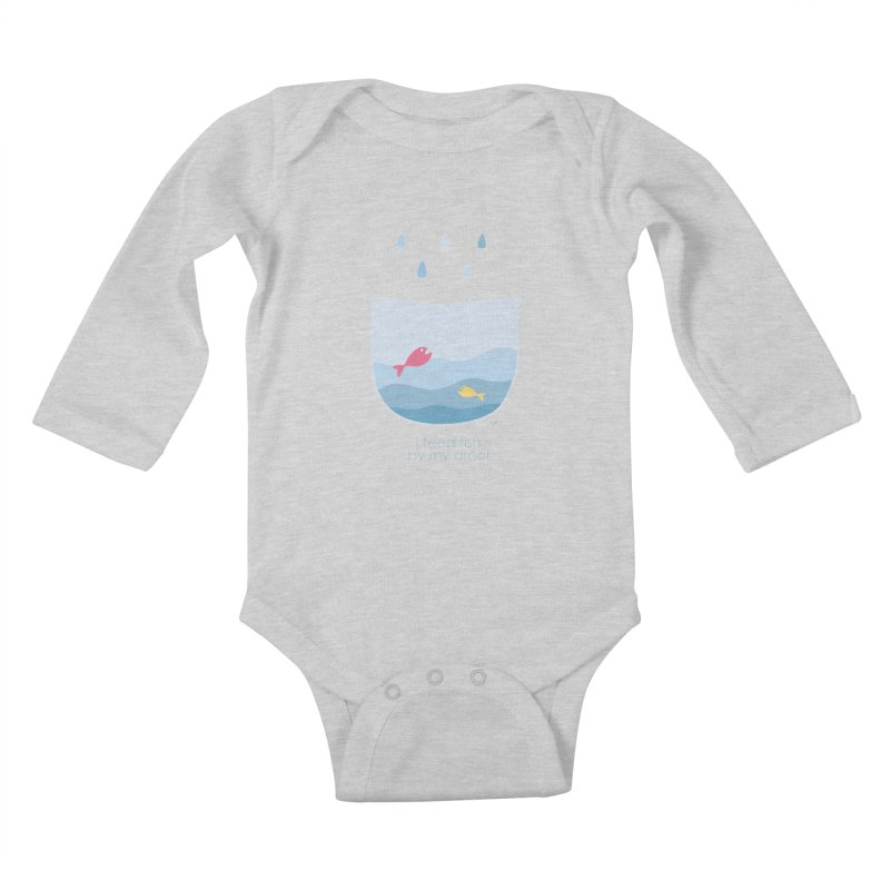 I feed fish by my drool Kids Baby Longsleeve Bodysuit by YLTsai's Artist Shop