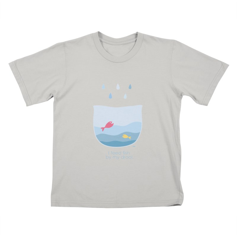 I feed fish by my drool Kids T-shirt by YLTsai's Artist Shop